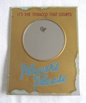 zz Player's tobacco / cigarettes - vintage metal showcard-style advertising mirror (SOLD)